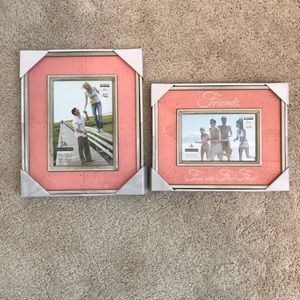 Other - NWT Pink Rustic Photo Frames